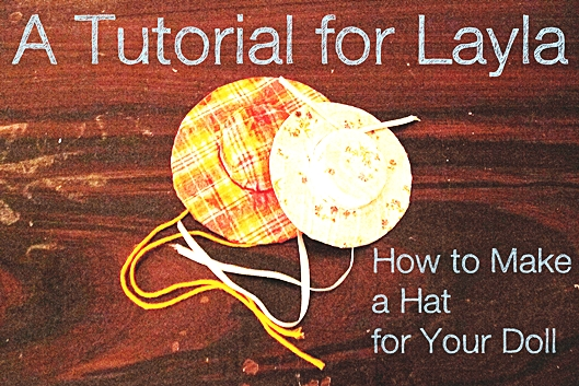 Tutorial Barbie Doll Hat Upcycling Recycling Fabric Scrap Buster DIY Basteln